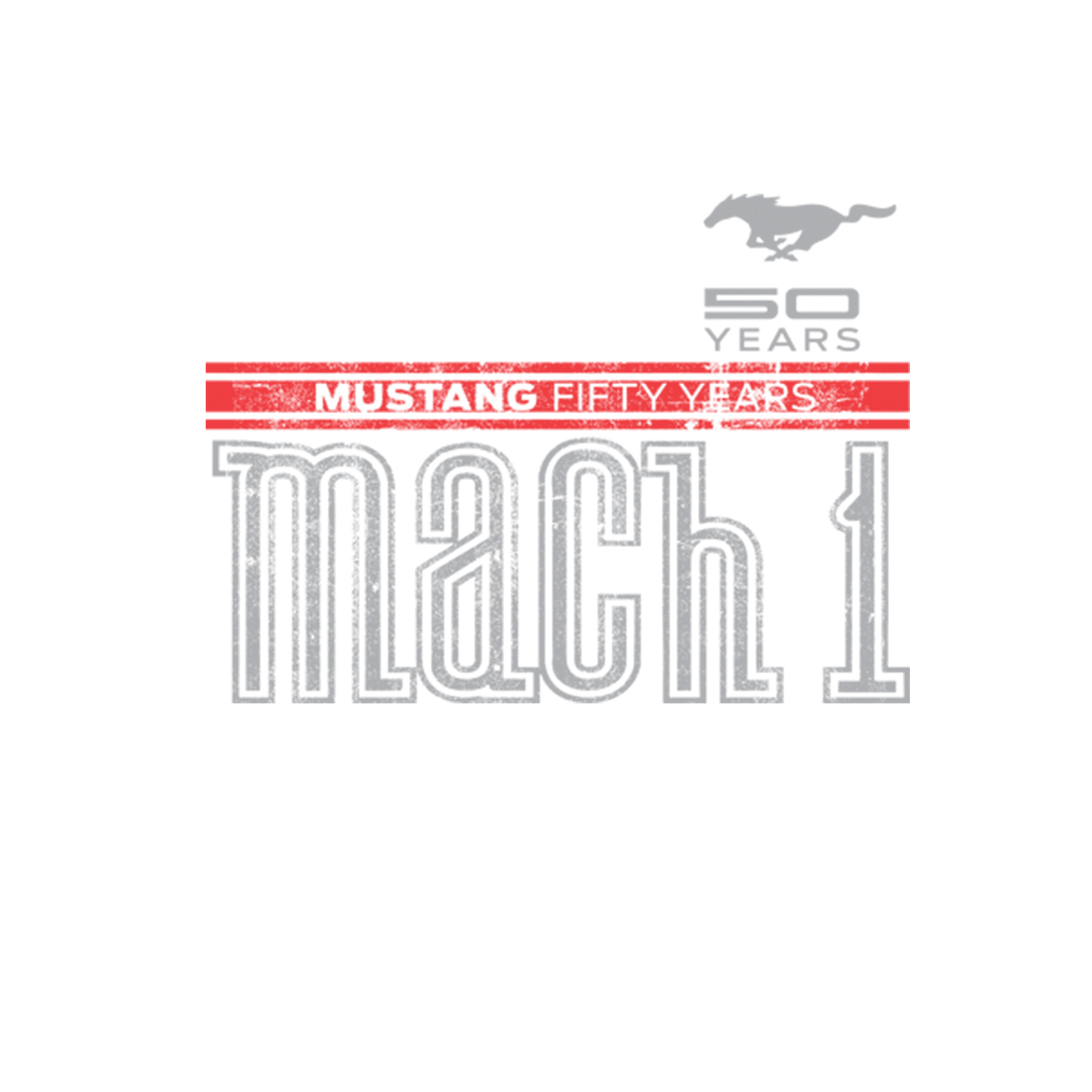 Ford Mustang Mach 1 Logo Womens T-shirt S-3XL