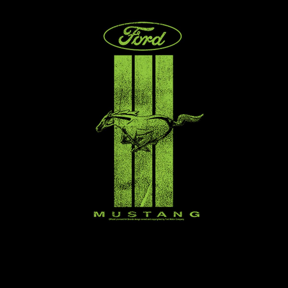 Ford Mustang Grünes Logo Damen T-shirt XS-3XL