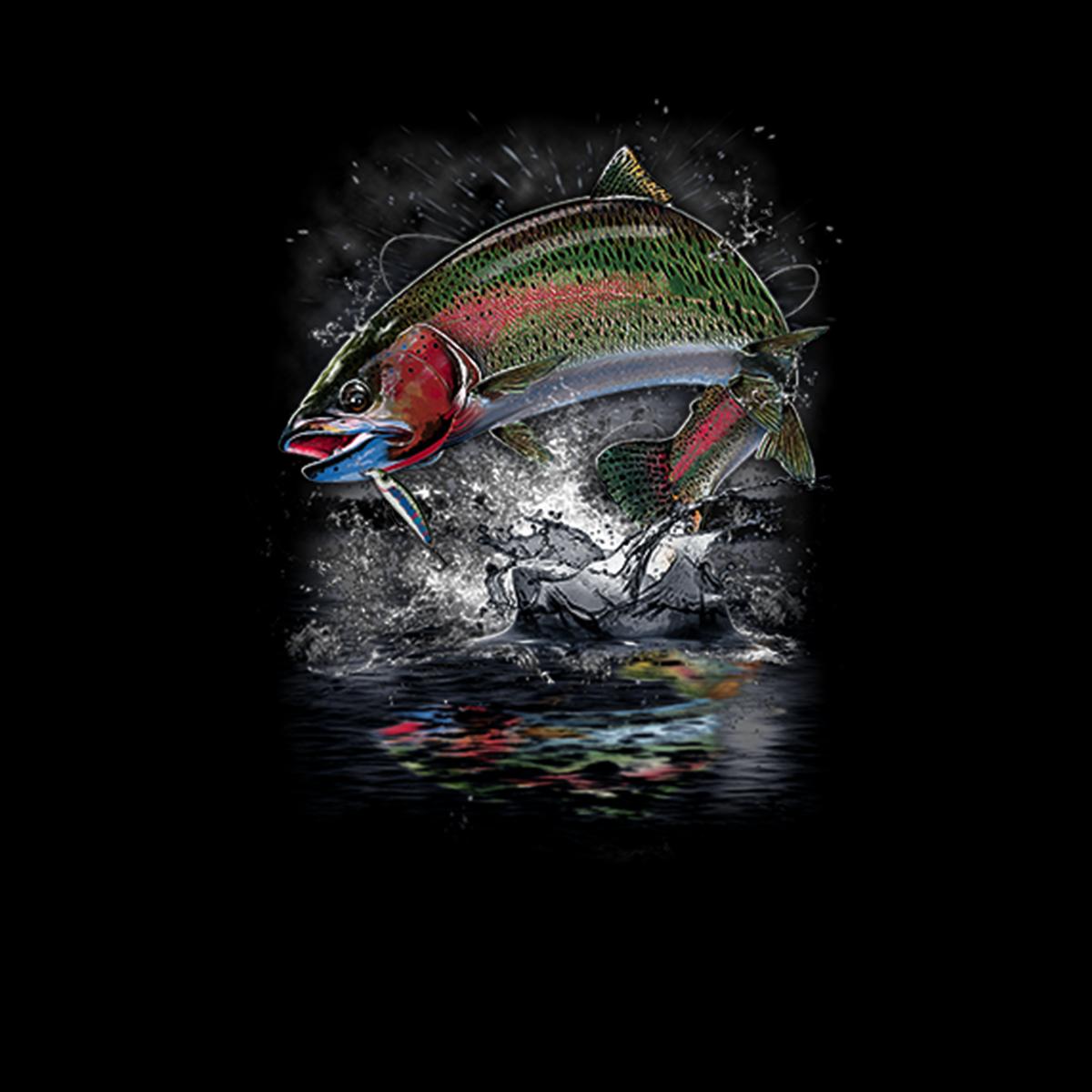 Forelle Angeln Fisch Herren T-shirt XS-5XL