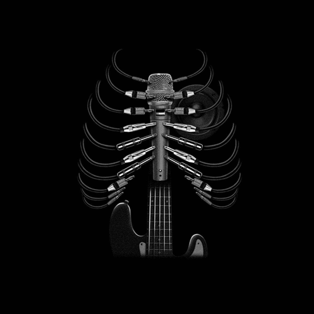 Amped Up Guitar Men T-shirt XS-5XL