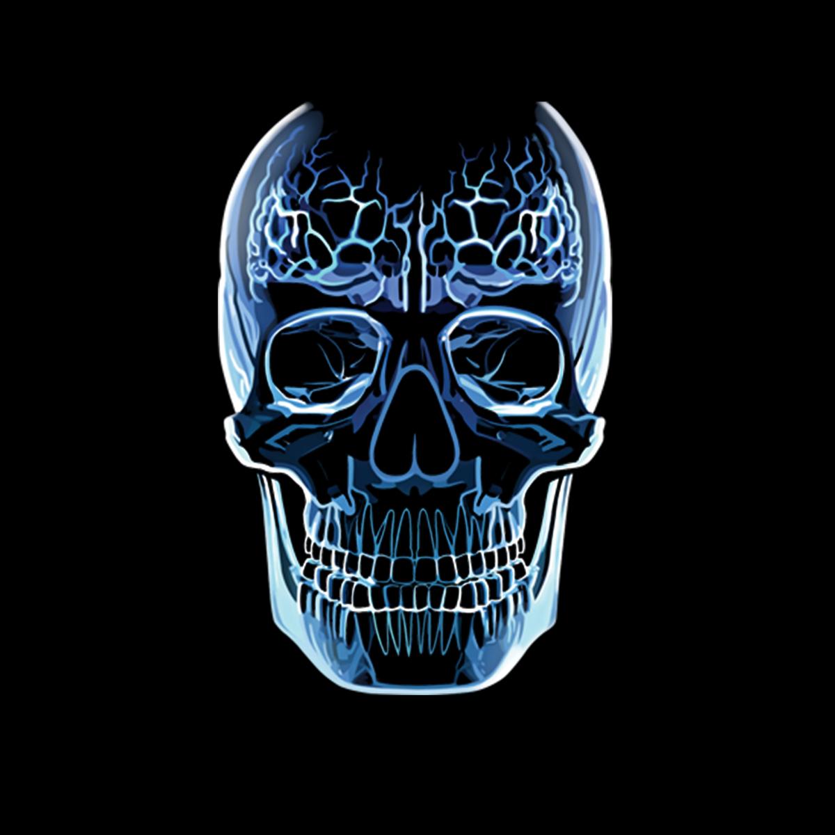 Glas Schädel Gehirn Herren T-shirt XS-5XL Neu