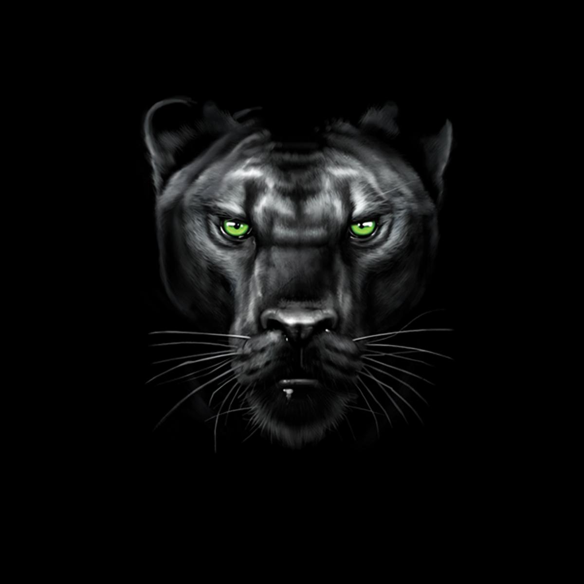 Panther Green Eyes Animals Women T-shirt M-3XL New