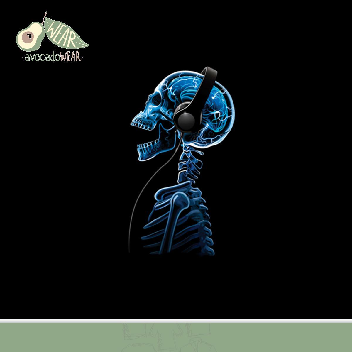 Cuffie-Teschio-Musica-Donna-T-Shirt-S-3XL-Nuovo