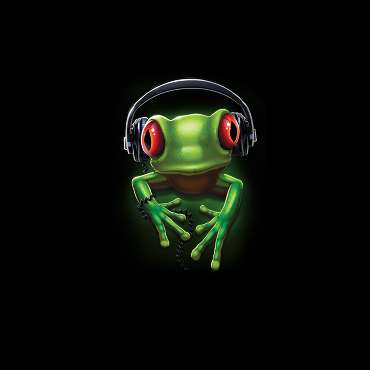 Frosch Rock Kopfhörer s Damen T-shirt S-3XL Neu
