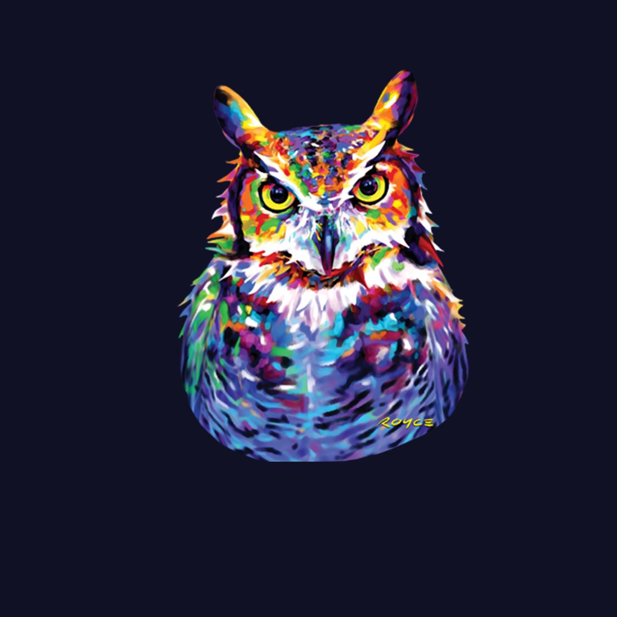 Great Horned Owl Womens T-shirt XS-3XL