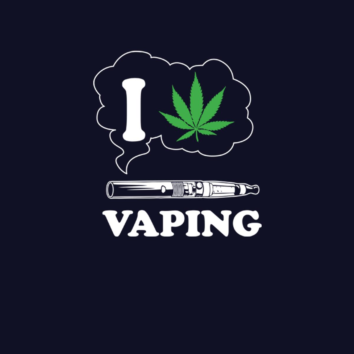I Love Vaping Cannabis Marijuana Men T-shirt XS-5XL New