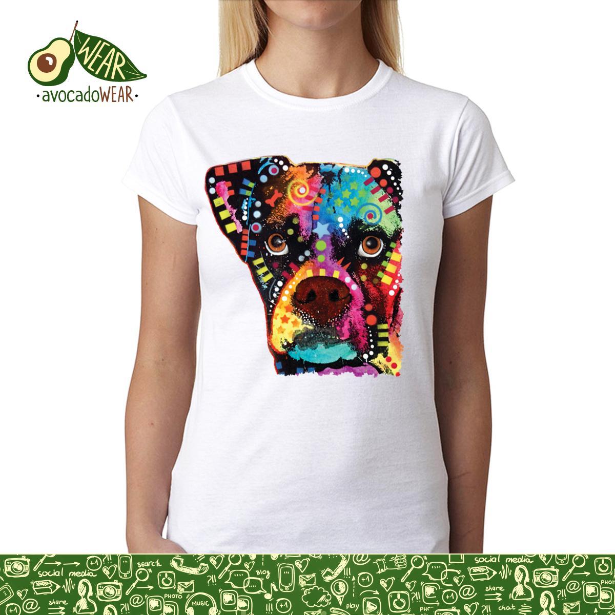 Dean-Russo-Boxer-Farbig-Kubismus-Damen-T-shirt-