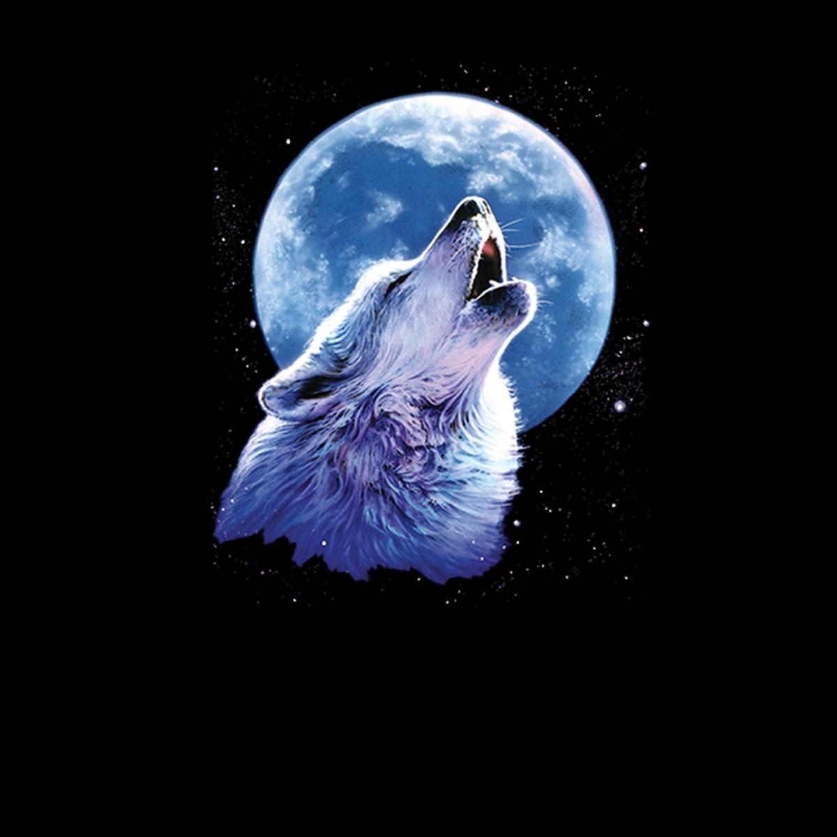 Lobo Aullando Luna Medianoche Mujer Camiseta Xs 3xl Ebay