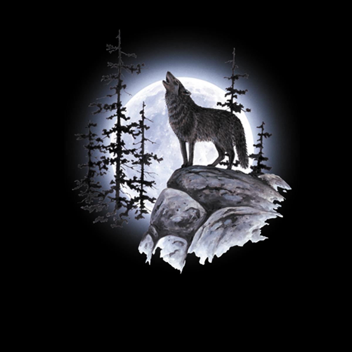 Lobo Aullando Luna Llena Mujer Camiseta Xs 3xl Ebay
