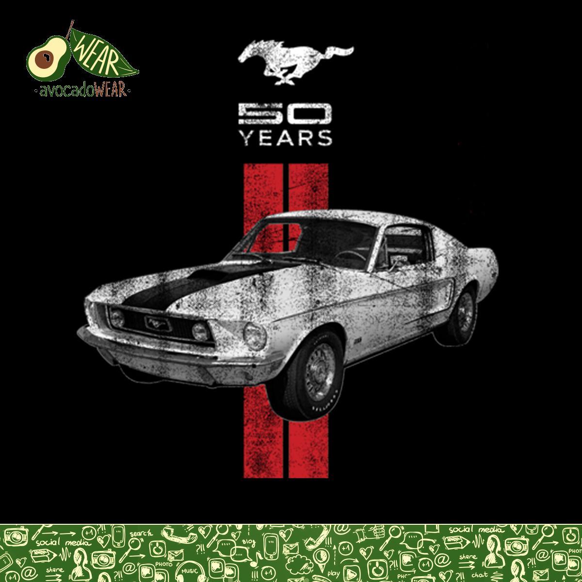 Mustang 50 Years Classic Car Logo Women T-shirt S-3XL New | eBay