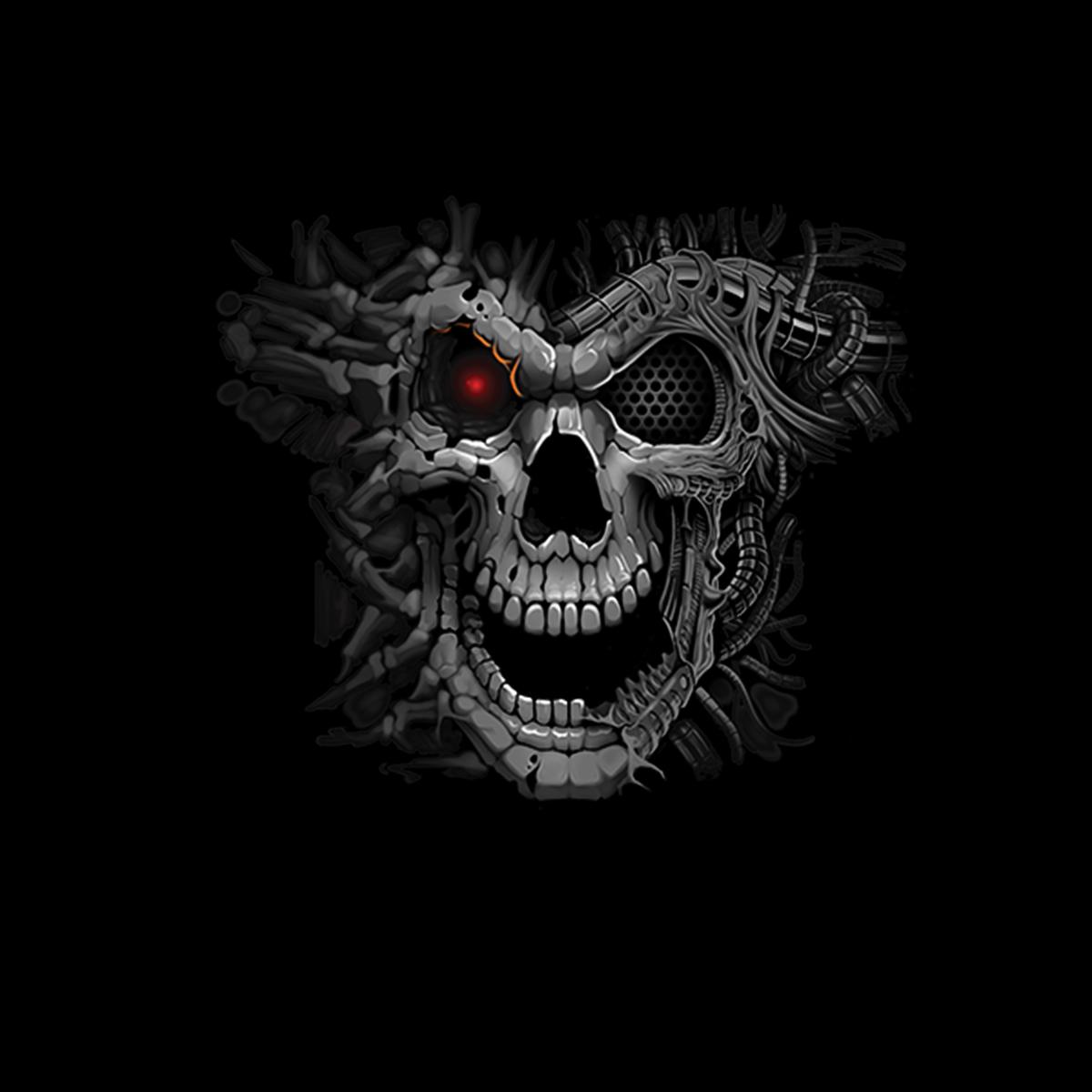 Cyborg-Skull-Men-T-shirt-XS-5XL-New thumbnail 3