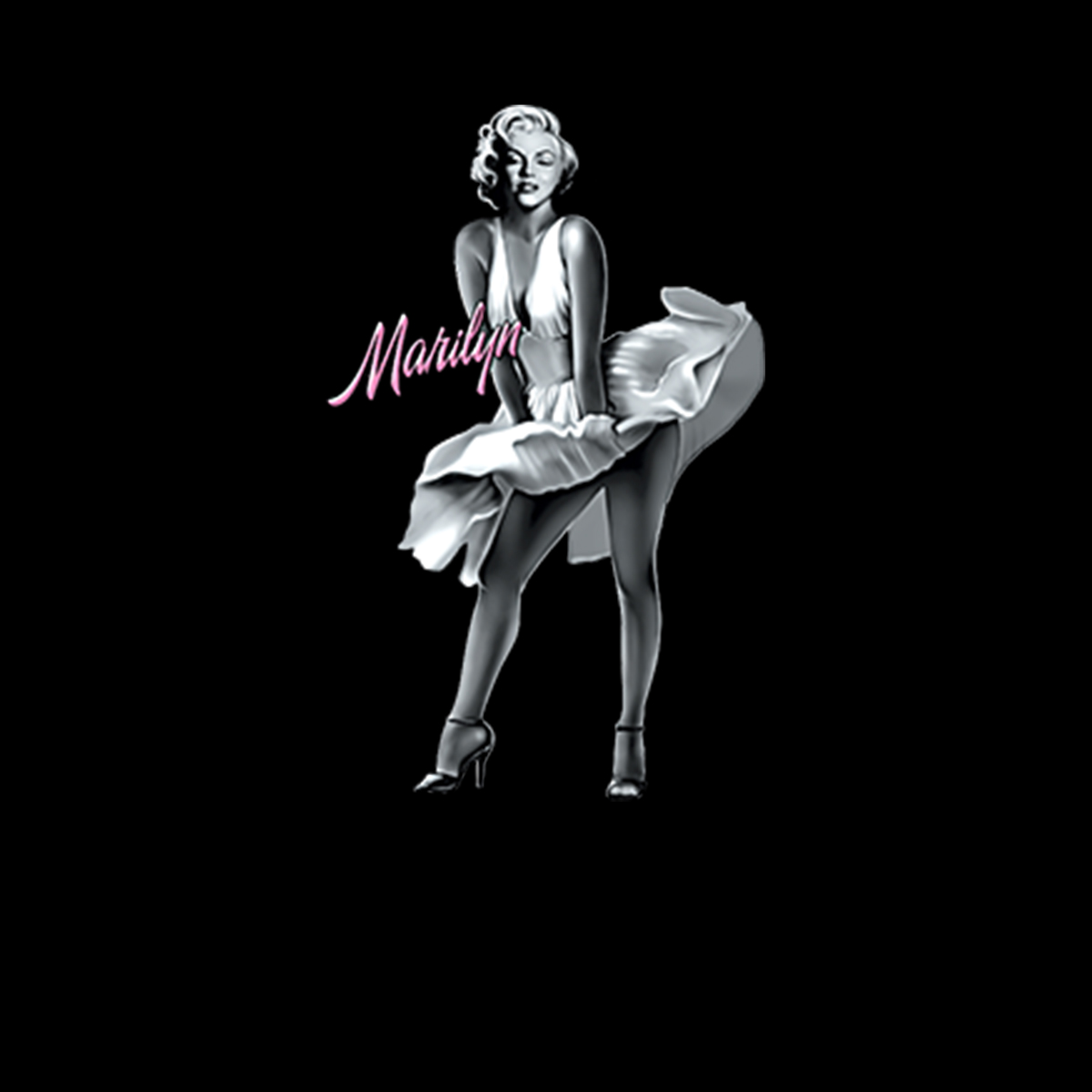 Marilyn-Monroe-Vestito-Bianco-Film-Donna-T-shirt-XS-3XL