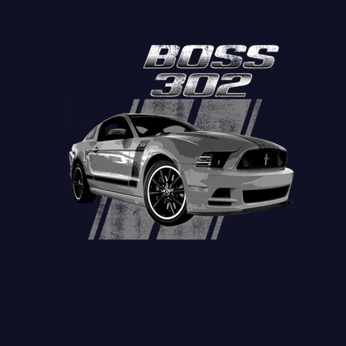 Ford-Mustang-50-Years-Boss-302-Men-T-shirt-XS-5XL thumbnail 6
