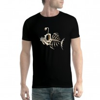 Fish Skeleton Bone Fish Mens T-shirt XS-5XL