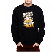 100% Chances of Beer Men Sweatshirt S-3XL New