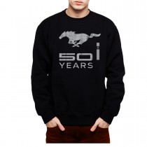 Ford Mustang 50 Years Silver Men Sweatshirt S-3XL New