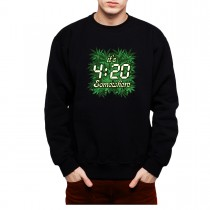 Pot Weed Cannabis Marijuana Mens Sweatshirt S-3XL