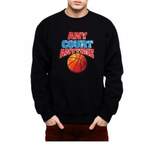 Basketball Court Mens Sweatshirt S-3XL