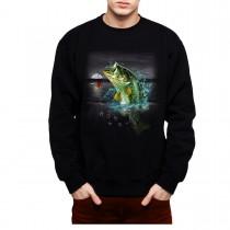 Bass Perch Fishing Mens Sweatshirt S-3XL