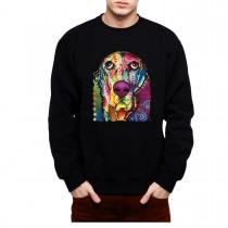 Basset Dachshund Dog Colourful Men Sweatshirt S-3XL
