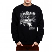 Cats Suck Saloon Mens Sweatshirt S-3XL