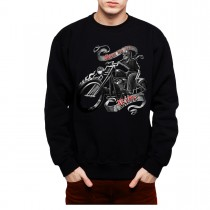 Skeleton Motorbike Rider Mens Sweatshirt S-3XL