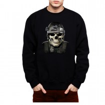 Military Skull Soldier War Mens Sweatshirt S-3XL