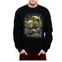 Muskie Fish Fishing Mens Sweatshirt S-3XL
