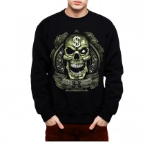 Diamond Skull Gangster Money Mens Sweatshirt S-3XL