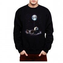 Otter Space Galaxy Earth Mens Sweatshirt S-3XL