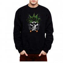 Pothead Skull Smoking Joints Mens Sweatshirt S-3XL