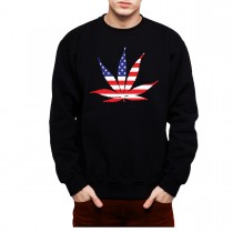 American Pot Leaf Weed Cannabis Mens Sweatshirt S-3XL