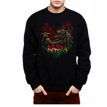 Rasta Skeleton Soul Music Dreadlocks Mens Sweatshirt S-3XL