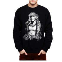 Marilyn Monroe Respect Gun Men Sweatshirt S-3XL