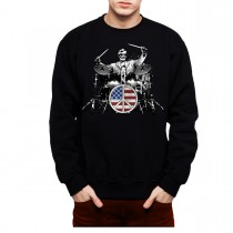 Rock Drums Peace Men Sweatshirt S-3XL
