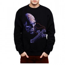 Rosary Skull Crucifix Mens Sweatshirt S-3XL