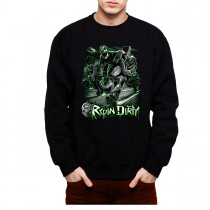 Motorbike Wheelie Rydin Dirty Mens Sweatshirt S-3XL