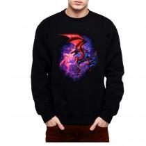 Dragon Space Fight Mens Sweatshirt S-3XL