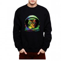 Space Cat Funny Mens Sweatshirt S-3XL