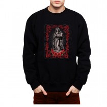 Virgin Mary Rose Jesus Mens Sweatshirt S-3XL