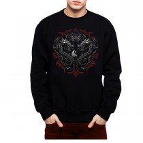 Bengal Tiger Dragons Taijitu Mens Sweatshirt S-3XL