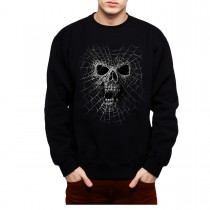 Black Widow Spider Web Skull Men Sweatshirt S-3XL New