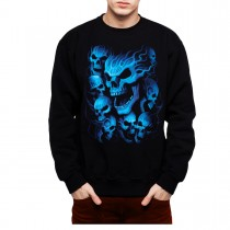 Blue Skulls Men Sweatshirt S-3XL New