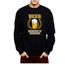 Beer Alcohol Breakfast Of Champions Men Sweatshirt S-3XL New