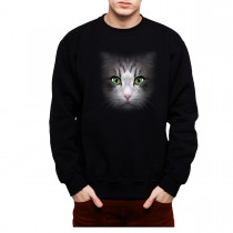 Cat Face Men Sweatshirt S-3XL New