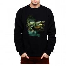 Alligator Crocodile Swamp Mens Sweatshirt S-3XL