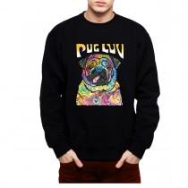Pug Dog Love Mens Sweatshirt S-3XL