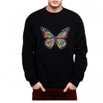 Butterfly Rainbow Colours Mens Sweatshirt S-3XL