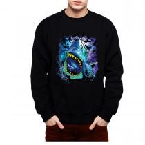 Shark Galaxy Solar System Mens Sweatshirt S-3XL