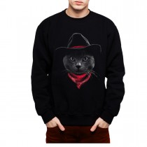 Cowboy Cat Hat Mens Sweatshirt S-3XL